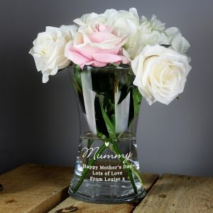 Personalised Love Heart Glass Vase