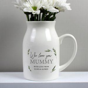 Personalised Botanical Flower Jug