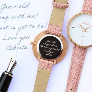 Handwriting Engraved Watch