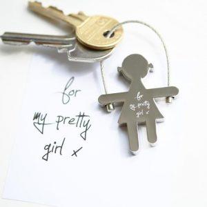 Skipping Sally Key Ring Handwriting Engraving