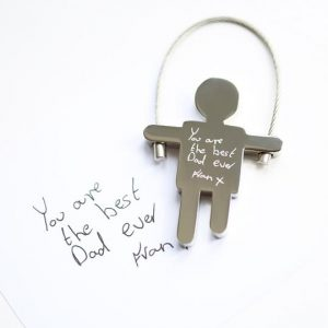 Skipping Sam Key Ring Handwriting Engraving