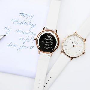 Ladies Architēct Blanc - Handwriting Engraving