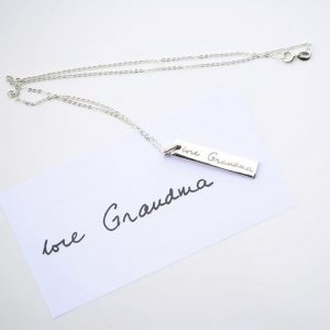 Handwriting Bar Necklace
