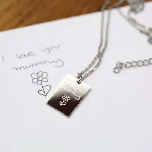Dazzle Necklace - Own Handwriting Engraving