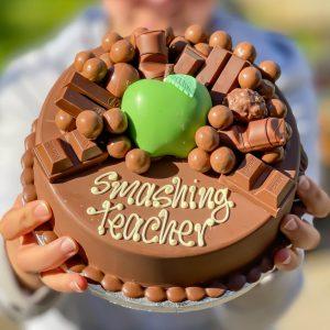 Teacher Thank You Chocolate Smash Cake
